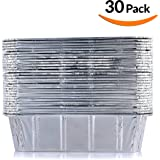 DOBI Loaf Pans - Disposable Aluminum Foil 2Lb Bread Pans, Standard Size - 8.5 X 4.5 X 2.5 Inches, Pack of 30. Favorite Bread Tin Size for Homemade Cakes, Breads, Meatloaf and quiche