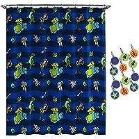 Jay Franco Disney Pixar Toy Story Buzz & Woody Shower Curtain & 12-Piece Hook Set & Easy Use - Kids Bath - (Official Disney Pixar Product)