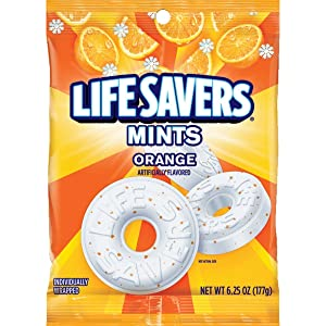 LIFE SAVERS Orange Mints Candy Bag, 6.25 ounce (Pack of 12)