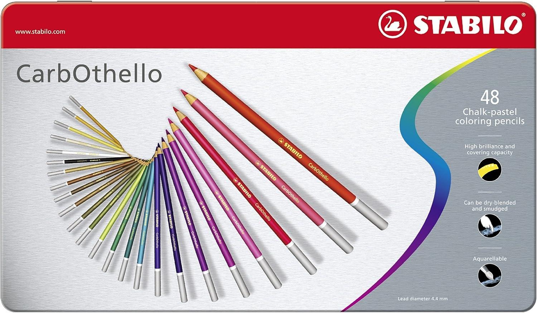 Crayon De Couleur Stabilo Carbothello Boite Metal De 60