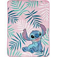 Jay Franco Disney Lilo & Stitch Misty Palm Throw Blanket - Measures 46 x 60 inches, Kids Bedding - Fade Resistant Super Soft Fleece (Official Disney Product)