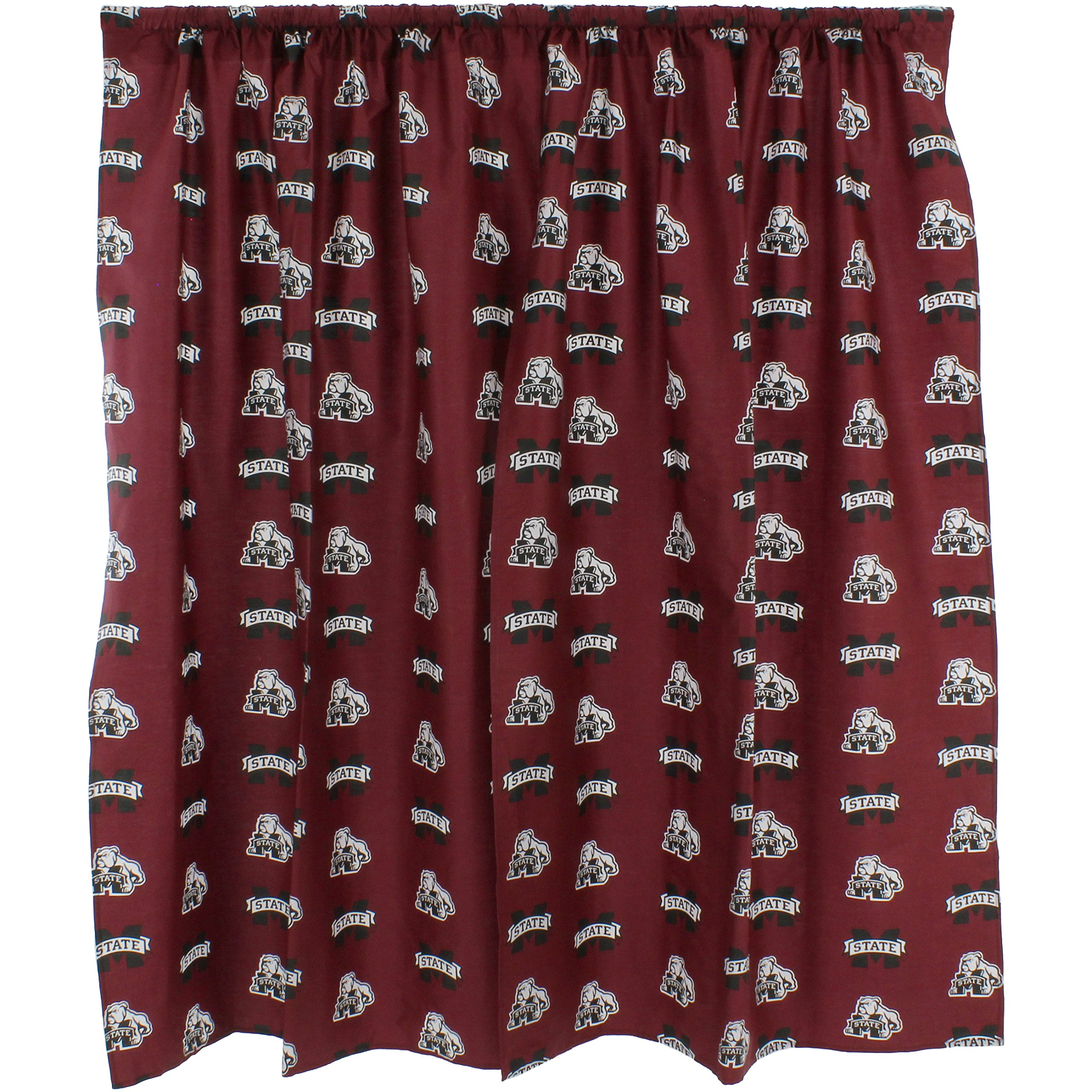 College Covers Shower Curtain Cover, 70'' x 72'', Mississippi State Bulldogs by College Covers