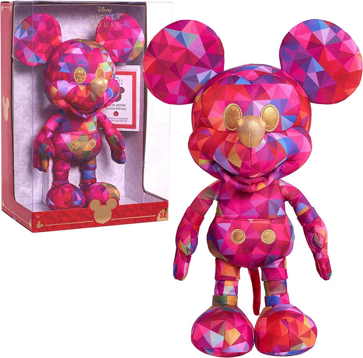 Limited Edition Disney Kaleidoscope of Color Mickey Mouse Plush, Amazon Exclusive