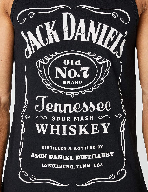 Small JACK DANIEL/'S Adult Male Old No.7 Brand Logo Hoodie Black//White