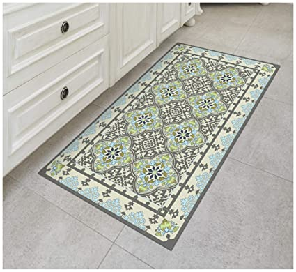 Amazoncom Tiva Design Victoria Vinyl Floor Mat Decorative