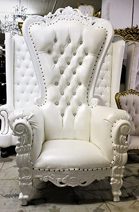 Baroque Hand Carved U0026quot;Tiffanyu0026quot; Queen Throne Chair   Royal  King/Queen Chair