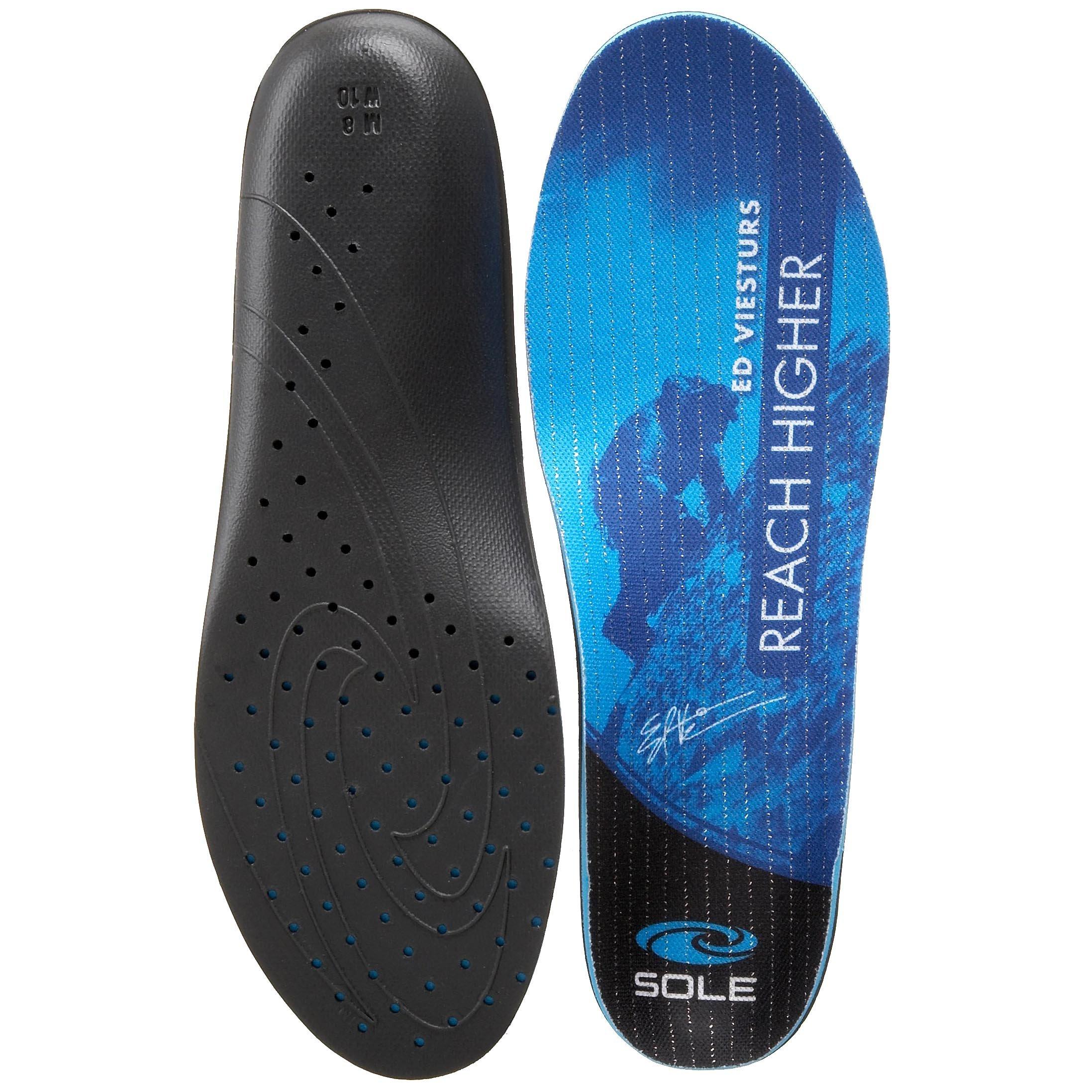SOLE Signature EV Ultra Footbeds, Blue, 7 M US