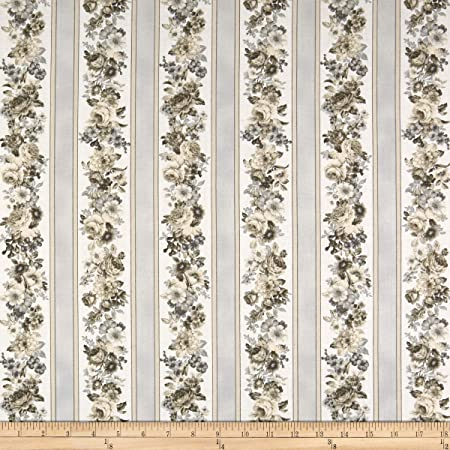 Amazon Com Robert Kaufman Mayfield Stripes Flowers Quilt Fabric Antique Quilt Fabric By The Yard