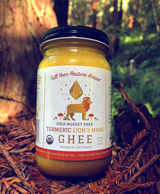 Amazon.com : TURMERIC LIONS MANE MUSHROOM GHEE BY GOLD NUGGET GHEE, USDA ORGANIC, FULL-YEAR/PASTURE-RAISED, GRASS-FED, PALEO & KETO 8oz : Grocery & Gourmet ...