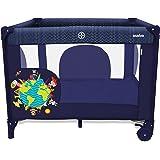 Asalvo 12500 - Parque cuadrado, diseño niños del mundo, color azul marino