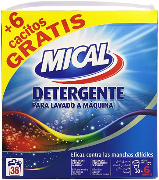 Mical - Detergente para lavado a máquina - Eficaz contra las ...