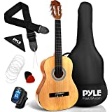 "Pyle 36"" Classical Acoustic Guitar-3/4 Junior Size 6 Linden Wood Guitar w/Gig Bag, Tuner, Nylon Strings, Picks, Strap, for Be"