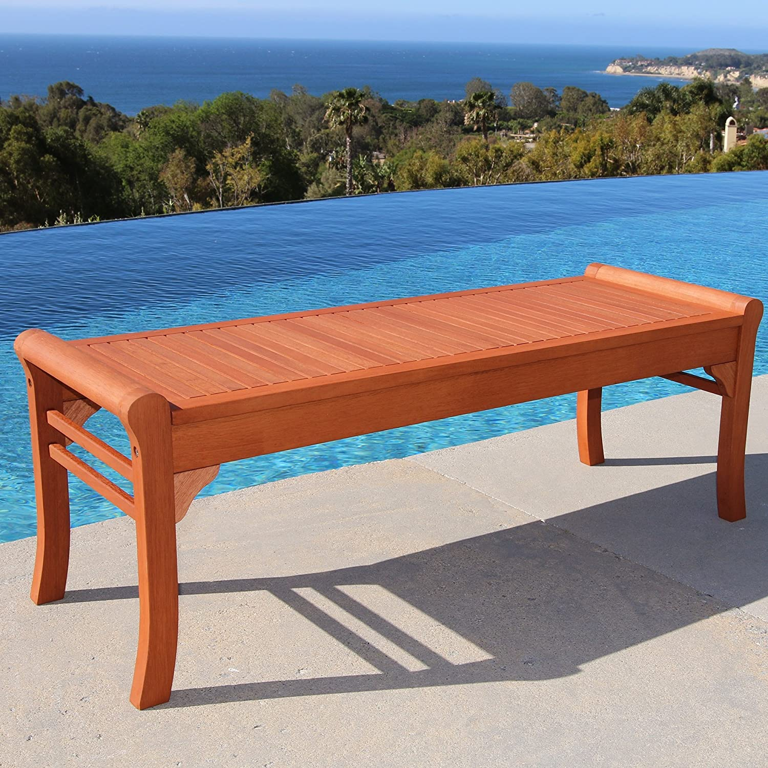 VIFAH Wood Bench ONLY $60.99 S...