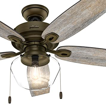 Hunter fan 52 in outdoor ceiling fan includes led globe light kit hunter fan 52 in outdoor ceiling fan includes led globe light kit with clear glass aloadofball Image collections