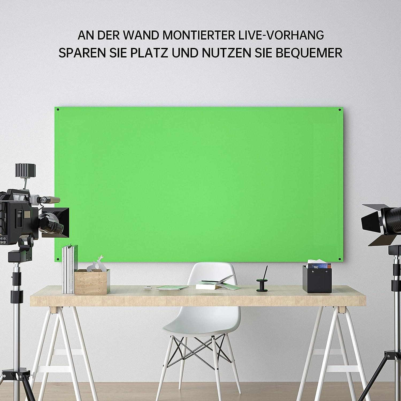 16:9 Live Spiel-Streaming Videos NEUE DAWN 80 Zoll GreenScreen Stativ Green Chroma-Key 183 x 106 cm Studio tragbarer R/ückwand Hintergrund Leinwand zur Hintergrundentfernung f/ür Fotografie