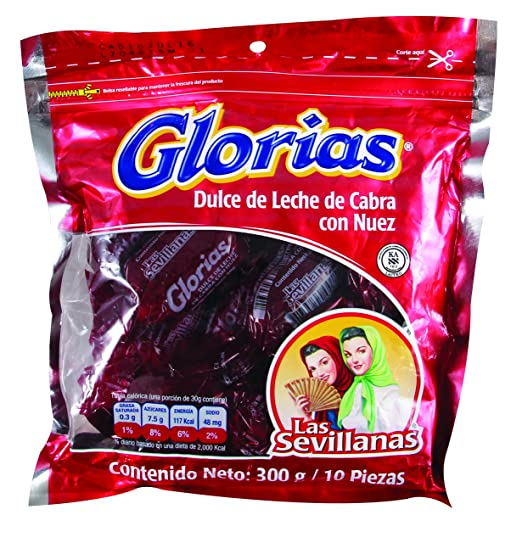 Amazon.com : Glorias Las Sevillanas - Goat Milk Candy with Pecans 15.87 oz - 15 Pieces (3 Packs, 5 Units/Pack) : Grocery & Gourmet Food