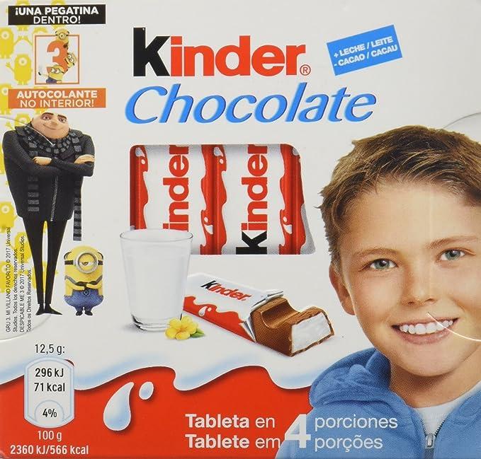 Kinder Snack de Chocolate - 50 gr