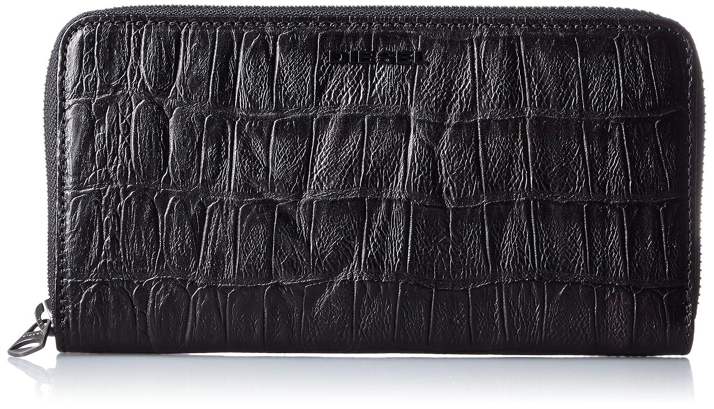 (ディーゼル) DIESELメンズ 長財布 CROCO LEATHER 24 ZIP wallet B017X8Q910 UNI(FREE サイズ)|ブラック ブラック UNI(FREE サイズ)