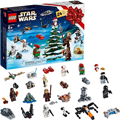 LEGO Star Wars Advent Calendar 75245 Holiday Gift Set Building Kit with Star Wars Minifigure Characters (280 Pieces): Toys & Games