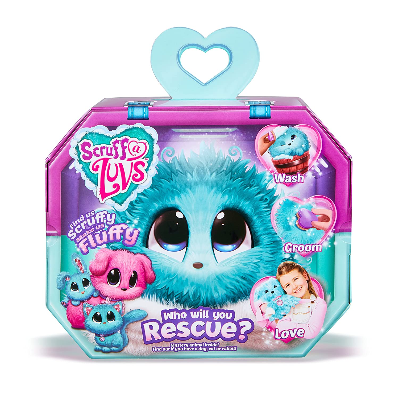 Scruff A Luvs Rescue Pet Soft Toy - Rabbit, Cat or Dog, Aqua Worlds Apart 635SLA
