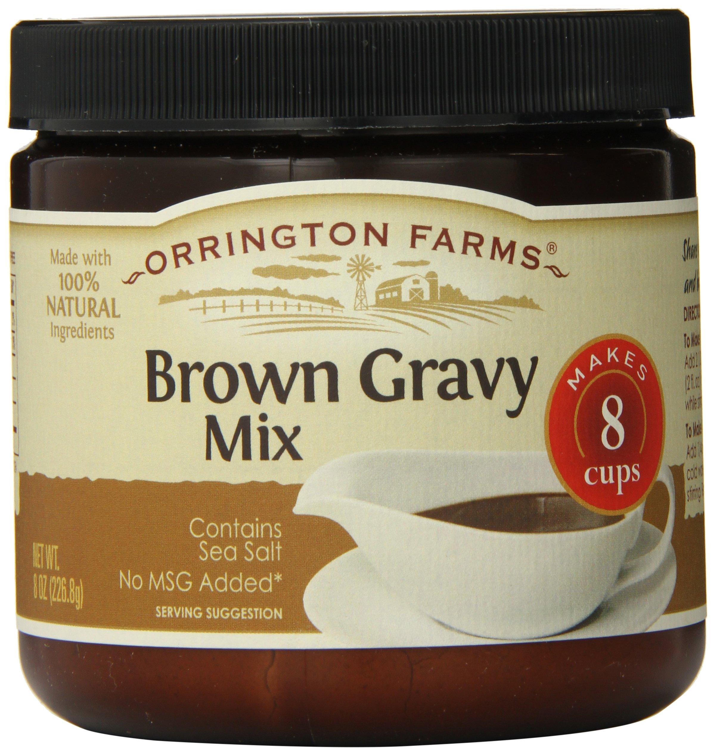 Orrington Farms Brown Gravy Mix Granular, 8-Ounce (Pack of 6)