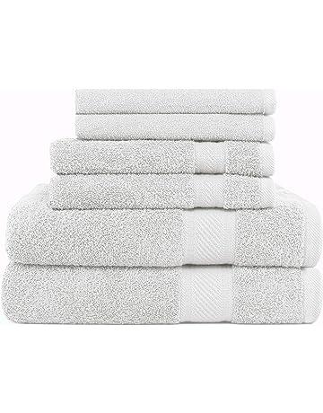 Juego de 6 lujosas toallas de uso diario Sweet Needle, 100 % algodón ringspun y