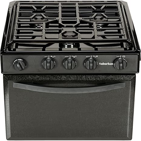 Lp Gas Cooktops For Rv On Sale Now Ppl Motor Homes >> Suburban 17 Inch 3206a Gas Range With Conventional Burners Black W Piezo Ignition 17