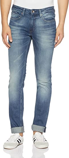 Pepe Jeans Men's Fingal V Slim Fit Stretchable Jeans Men's Jeans at amazon