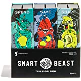 Smart Beast Trio Piggy Bank: 3-in-1 Money-wise Educational Piggy Bank ...