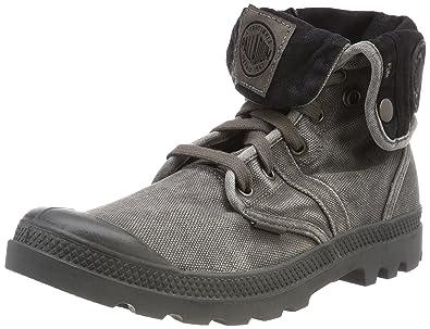 Palladium Herren Us Baggy W H Hohe Sneaker, Grau (Métal), 40 EU
