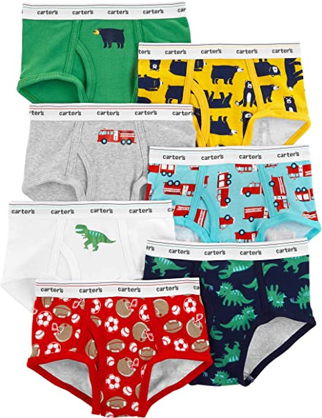 New Carter/'s 3 Pairs Underwear Boy Briefs NWT 2T 3T 4T 5T 6 7 Year Digger Trucks