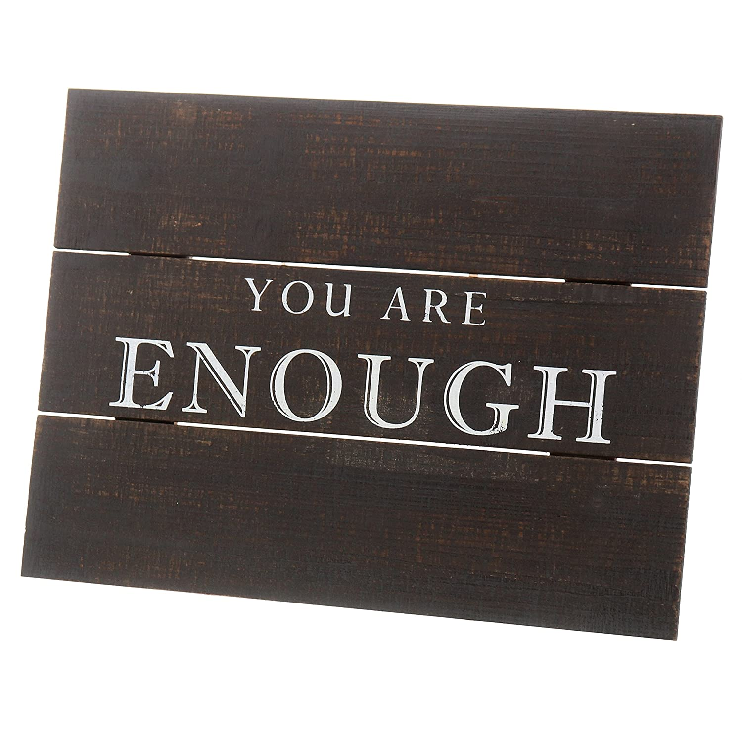 Barnyard Designs You are Enough Distressed Wood Plaque Primitive Country Farmhouse Home Decor Sign 16 x 12
