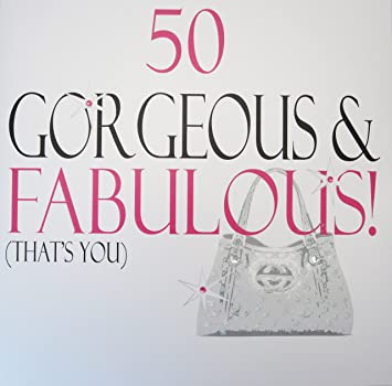 WHITE COTTON CARDS 50 Gorgeous Fabulous Thats You Handmade Large 50th Birthday Card
