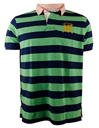 Polo Ralph Lauren Men\u0026#39;s Custom-Fit Cross Mallets Striped Rugby Polo ...