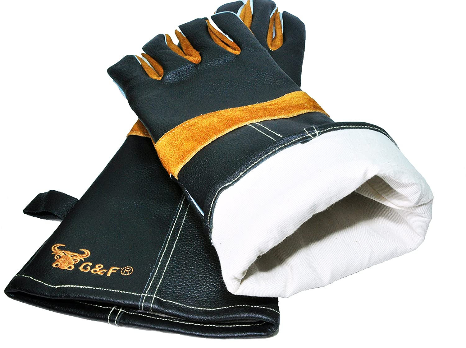 Leather work gloves ireland - Grillpro Black Leather Bbq Gloves Amazon Com G F 8115 Premium Grain Leather Gloves Bbq Gloves