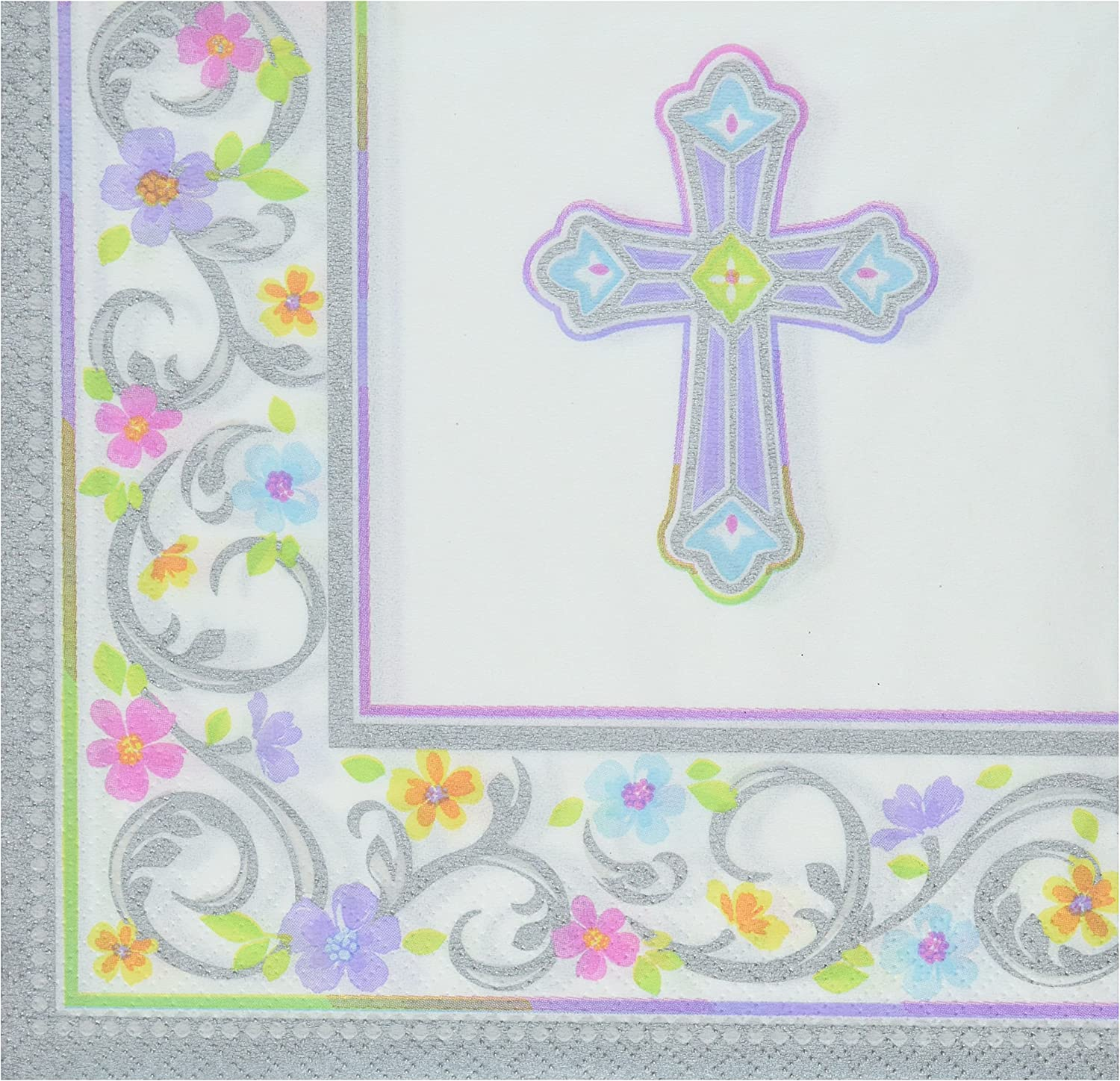 Amscan First Communion Blessed Day Luncheon Napkins, 36 Count Party Supplies