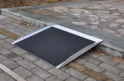 Rampa Rampa Rampa de aluminio para sillas de ruedas andadores 61 cm