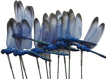 LeBeila Dragonfly Outdoor Decor For Yard Decorations Gardening States 3d Art Craft Garden Ornament