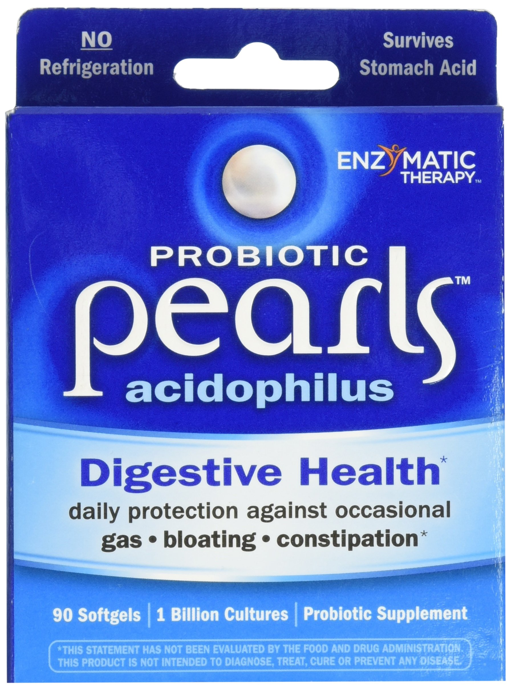 Enzymatic Therapy Acidophilus Pearls 1 Billion CFU (90 Capsules) by Enzymatic Therapy