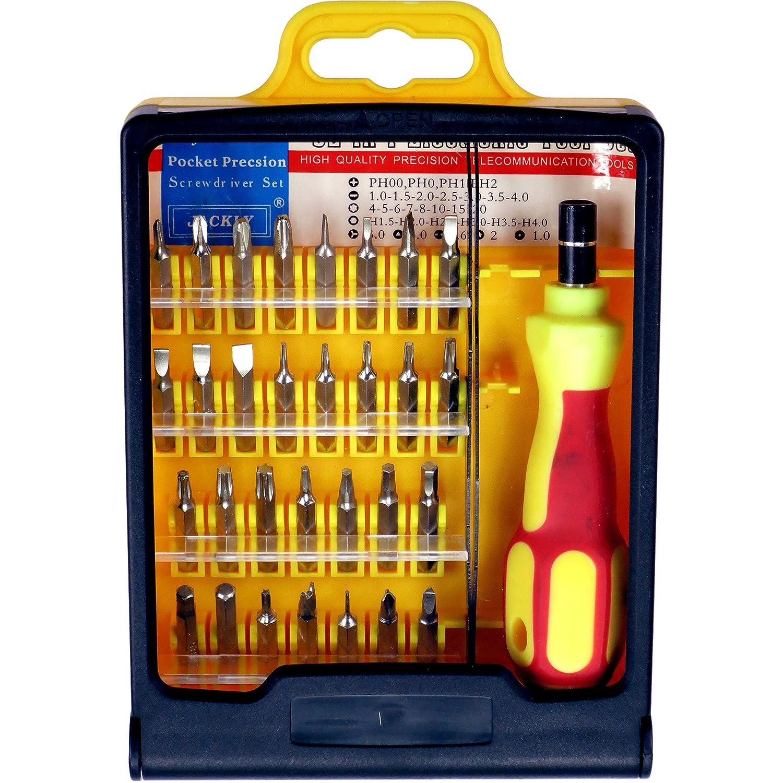 Tweezers and Storage Case Jackly 6032 32Pc Precision Bit Set with Screwdriver