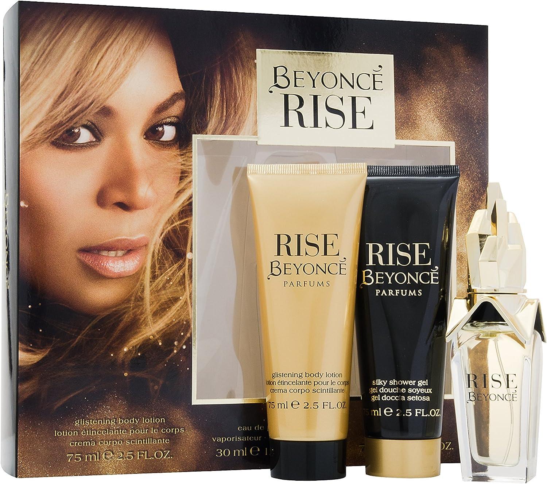 Beyonce Rise Gift Set contiene EDP 30 ml/Gel de ducha 75 ml y Loción Corporal 75 ml: Amazon.es: Belleza