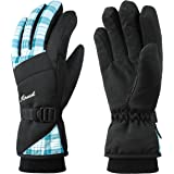 MCTi Waterproof Womens Ski Gloves Fleece Lined Snowboard Snow Riding Biking Driving Thinsulate Winter Warm Gloves