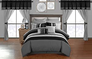 Chic Home 24 Piece Comforter Set, King, Grey