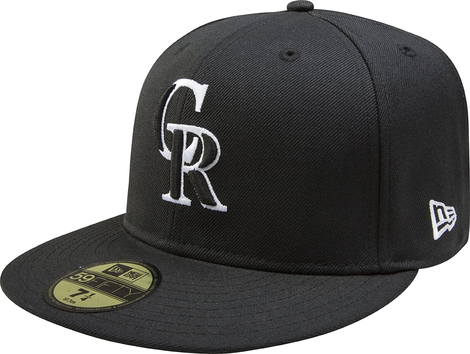 Amazon.com   MLB Colorado Rockies Black with White 59FIFTY Fitted ... f045d2b820c