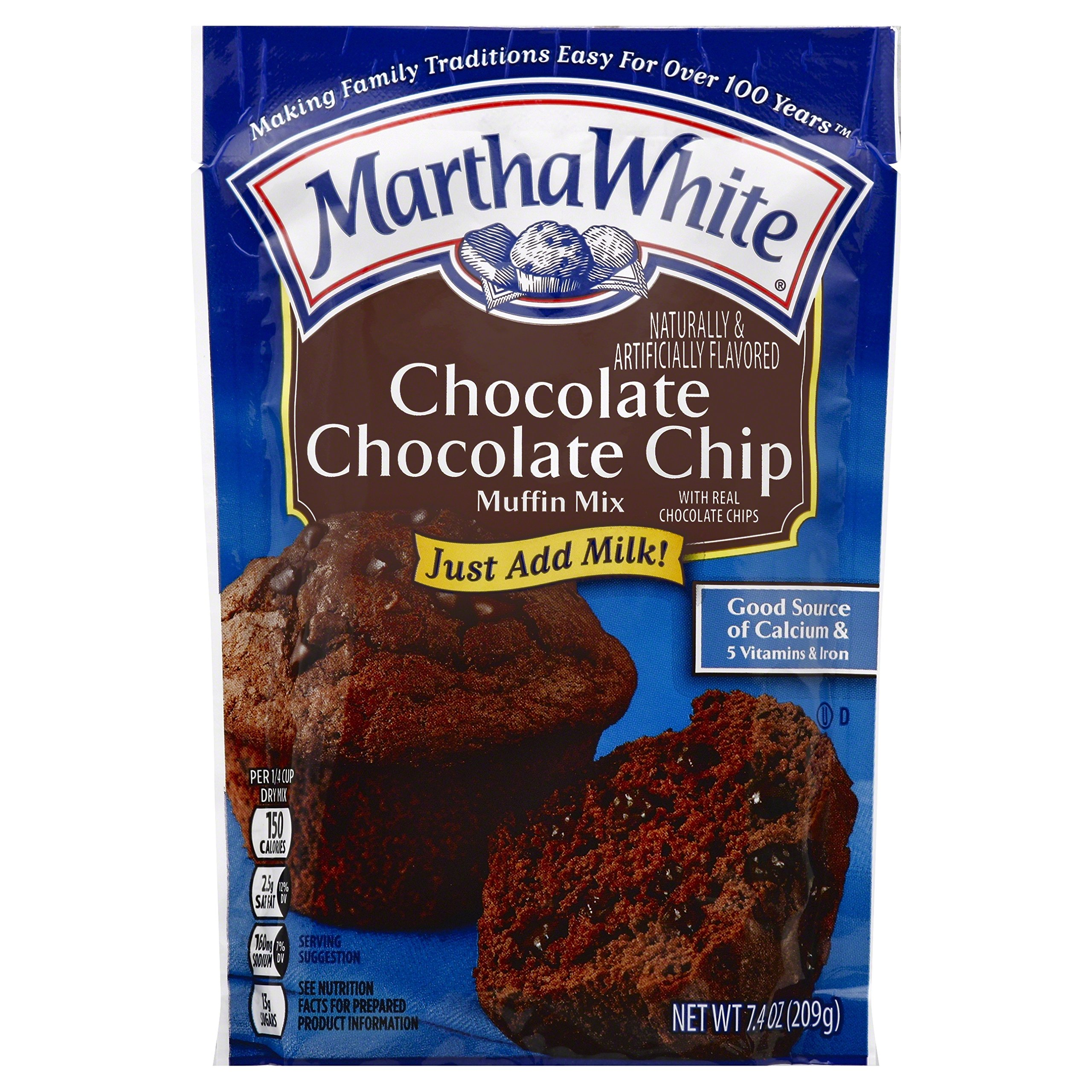 Martha White Chocolate Chip Muffin Mix, 7.4 oz
