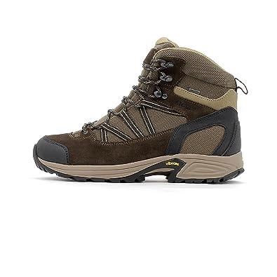 Aigle Mooven Mid Gtx Darkbrown/Beige - Livraison Gratuite avec - Chaussures Chaussures-de-randonnee Homme