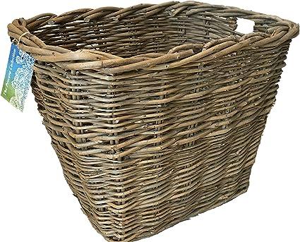 Osier log panier log support panier à linge coffre à jouets en osier panier 2 tailles