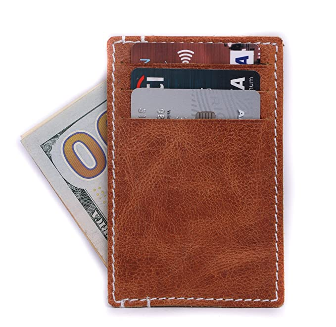 efd8445094fa Slim Minimalist Front Pocket RFID Blocking Leather Wallets for Men ...