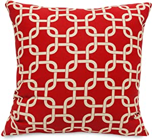 Majestic Home Goods Links Pillow, X-Large, Red