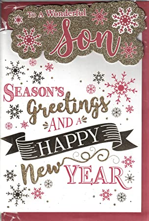 Son Christmas Card ~ Special Son Merry Christmas And A Happy New ...